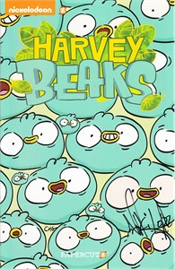 Harvey Beaks autographed set of 2 Nickelodeon mini promo comic books