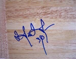 Hasheem Thabeet autographed 6x6 basketball hardwood floor