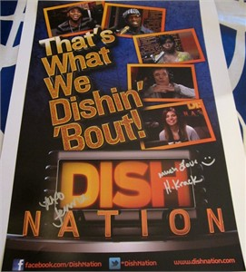 Headkrack & Jenna Owens autographed Dish Nation 2013 Comic-Con promo poster