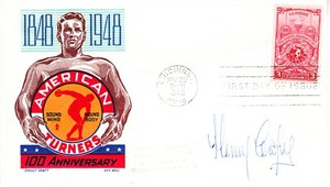 Henry Cooper autographed 1948 American Turners First Day Cover