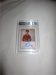 Henry Owens autographed 2010 AFLAC Bowman Rookie Card graded BGS 8.5 JSA