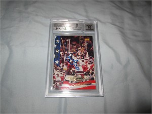 Herb Brooks certified autograph 1980 USA Hockey Team 1995 Signature Rookies Miracle on Ice promo card BGS graded 9 MINT (JSA)