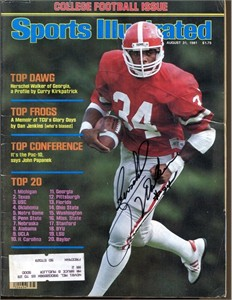 Herschel Walker autographed Georgia Bulldogs 1982 Sports Illustrated