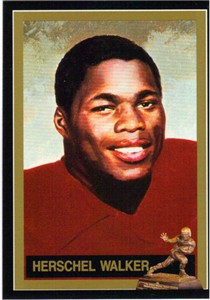 Herschel Walker Georgia Heisman Trophy winner card