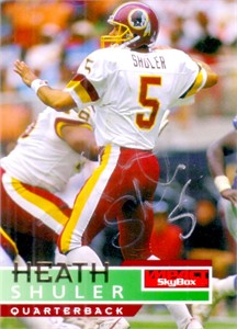Heath Shuler autographed Washington Redskins card