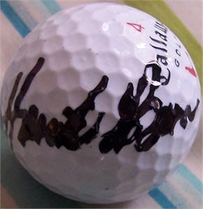 Henrik Stenson autographed Callaway golf ball