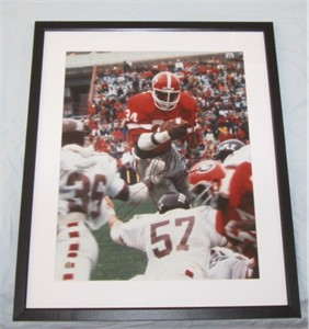 Herschel Walker autographed Georgia Bulldogs 16x20 poster size photo inscribed 82 Heisman