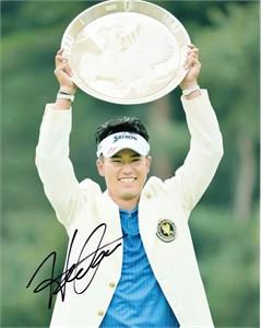 Hideki Matsuyama autographed 2013 Fujisankei Classic 8x10 photo