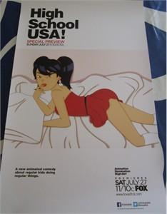 High School USA 2013 Comic-Con 11x17 promo poster MINT (Mandy Moore)