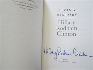 Hillary Clinton autographed Hard Choices hardcover book (full name signature)