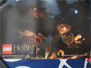 The Hobbit Battle of the Five Armies Lego 2014 Comic-Con mini movie poster