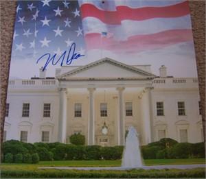 Howard Dean autographed White House calendar page