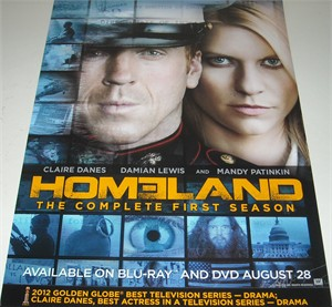Homeland 2012 Comic-Con promo poster (Claire Danes Damian Lewis)