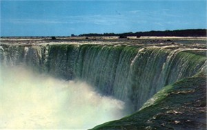 Niagara Horseshoe Falls 1960s color postcard