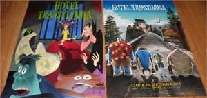 Hotel Transylvania movie 2012 Comic-Con set of 2 mini promo posters