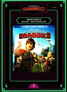 How to Train Your Dragon 2 movie DVD release 2014 Comic-Con exclusive promo card