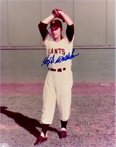Hoyt Wilhelm autographed New York Giants 8x10 photo