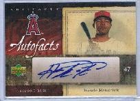Howie Kendrick certified autograph Angels 2007 Upper Deck card