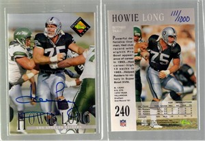 Howie Long autographed Raiders 1994 Pro Line card #/1000