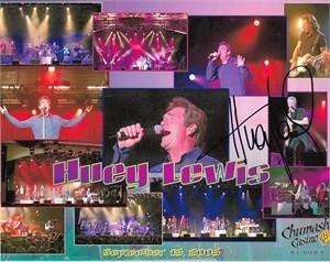 Huey Lewis autographed 2005 8x10 concert photo