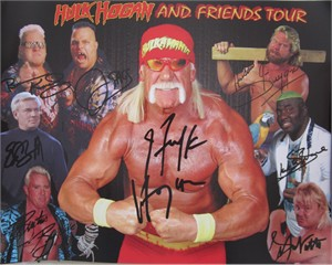 Hulk Hogan and Friends 2011 tour 11x14 pro wrestling photo (Brutus Beefcake Hacksaw Jim Duggan Greg The Hammer Valentine)