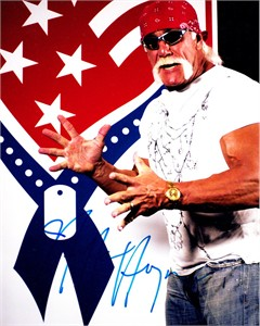 Hulk Hogan autographed 8x10 portrait photo
