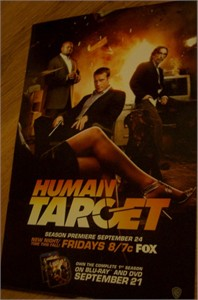 Human Target 2010 Comic-Con promo poster