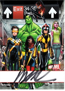 Humberto Ramos autographed X-Men Marvel 2016 Comic-Con card
