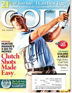 Hunter Mahan autographed 2009 Golf magazine