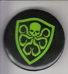 Hydra shield logo button or pin