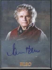 Ian Holm (Bilbo) certified autograph Lord of the Rings Topps Chrome card