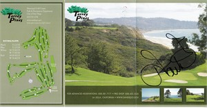 Ian Poulter autographed Torrey Pines North golf scorecard