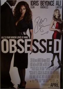 Idris Elba autographed Obsessed mini movie poster