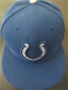 Indianapolis Colts New Era authentic On Field blue cap or hat (fitted size 7 1/4)