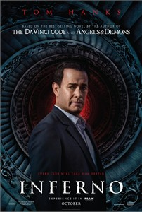 Inferno 2016 mini 11x17 movie poster (Tom Hanks)