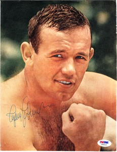 Ingemar Johansson autographed full page vintage boxing magazine photo (PSA/DNA)