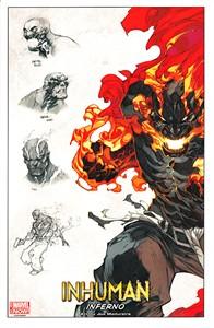 Inhuman Inferno Marvel Comics 2014 Comic-Con promo artwork print