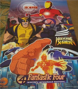 Iron Man Wolverine X-Men Fantastic Four Nicktoons promo poster