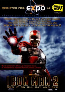 Iron Man 2 movie DVD release 2010 Comic-Con 5x7 promo card