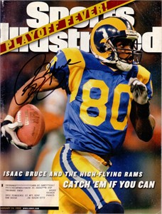 Isaac Bruce autographed St. Louis Rams 2000 Sports Illustrated