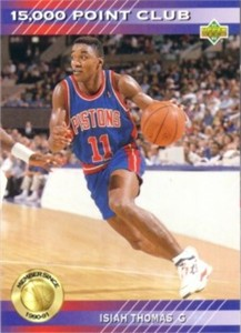 Isiah Thomas Pistons 1992-93 Upper Deck 15,000 Point Club insert card