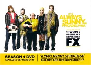 It's Always Sunny in Philadelphia 2009 Comic-Con Fox 5x7 promo card
