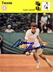 Ivan Lendl autographed 1979 Sportscaster Rookie Card