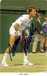 Ivan Lendl autographed 1987 Fax Pax tennis card