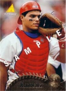 Ivan Rodriguez 1995 Pinnacle promo or sample card