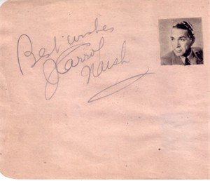 J. Carrol Naish & Jane Powell autographed autograph album or book page