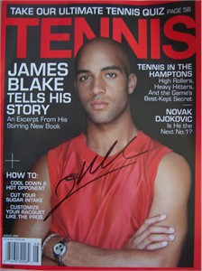 James Blake autographed 2007 Tennis magazine