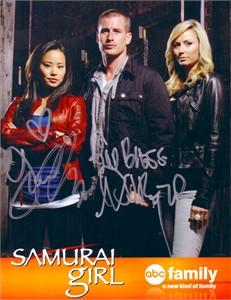 Jamie Chung & Brendan Fehr autographed Samurai Girl photo