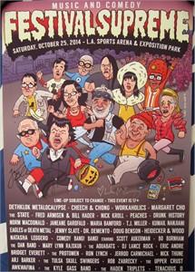 Jack Black & Kyle Gass (Tenacious D) autographed 2014 Comic-Con Festival Supreme poster