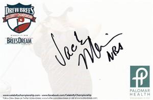Jack Marin autographed 4x6 signature card
